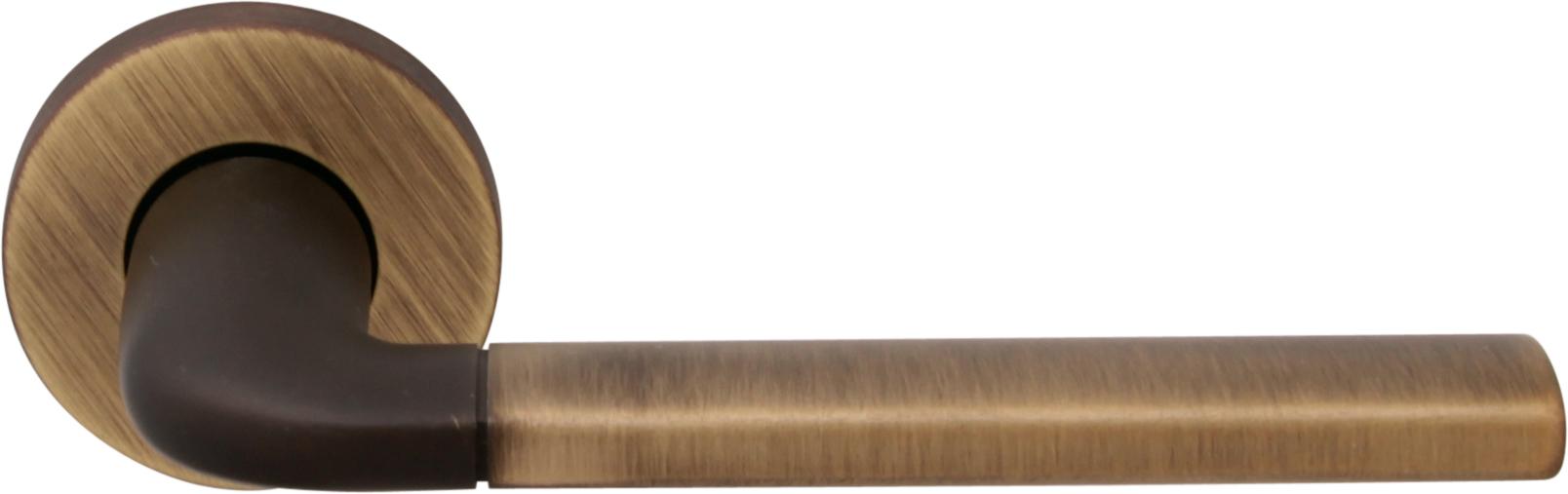 Дверная ручка на круглой розетке 158 R MILLY2 MAB (50PVC)