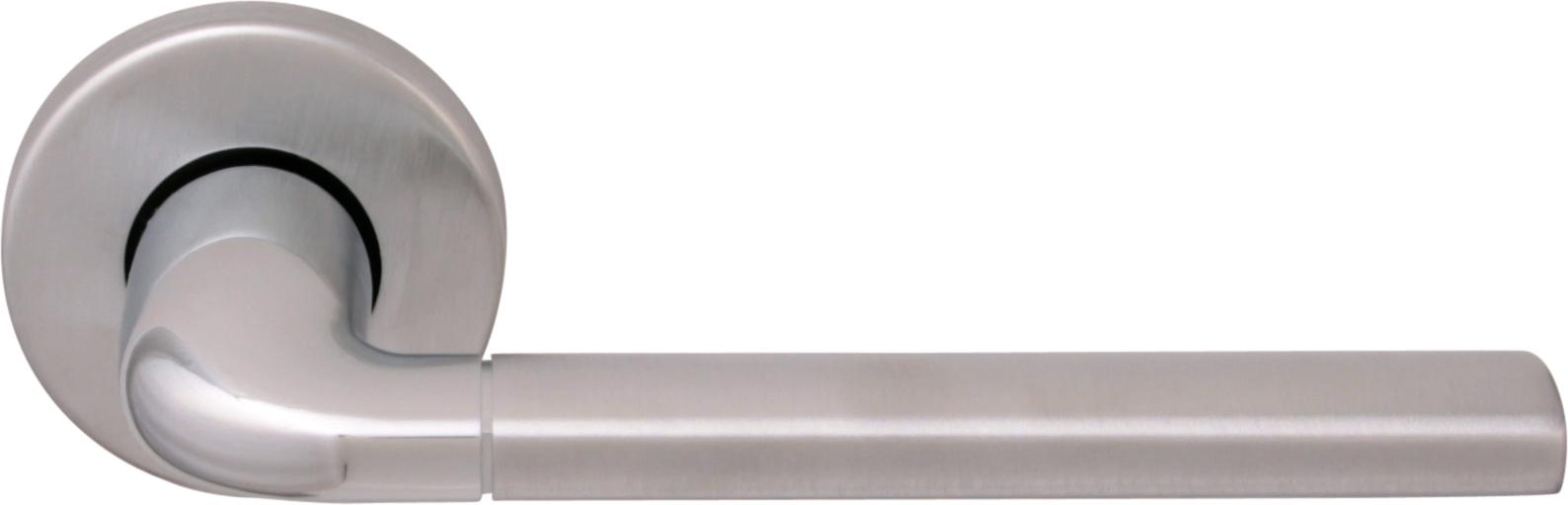 Дверная ручка на круглой розетке 158 R MILLY2 CS/CP (50PVC)