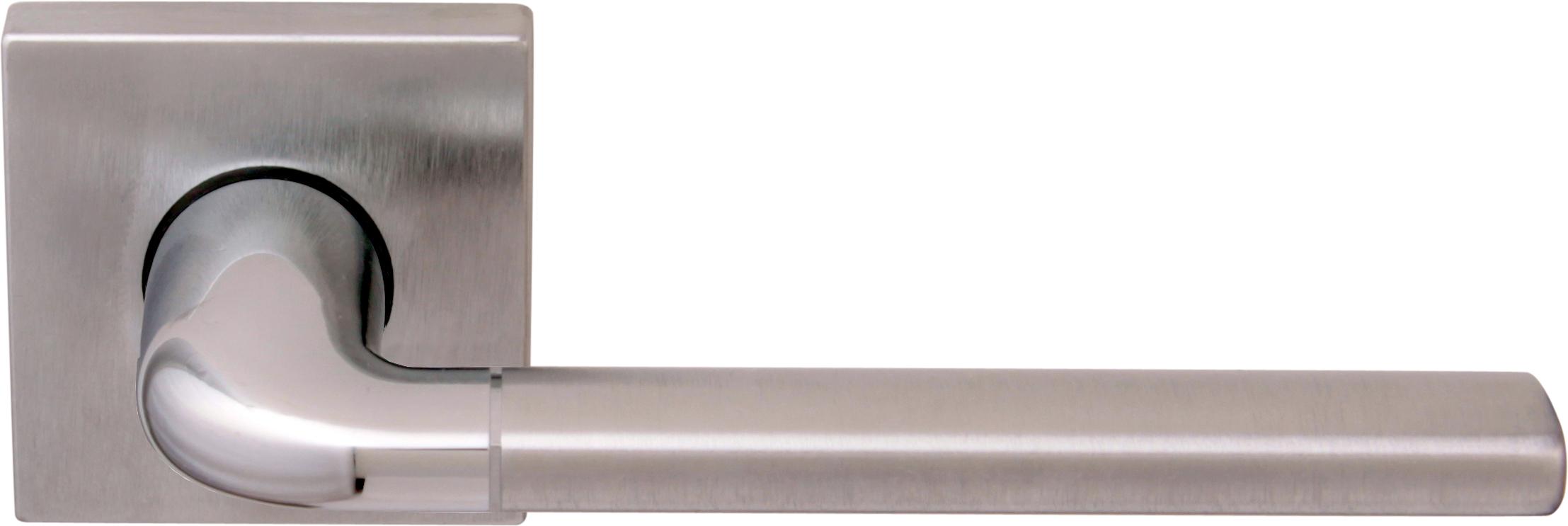 Дверная ручка на квадратной розетке 158 К MILLY2 CS/CP (50PVC)