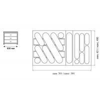 Ёмкость в базу 800 для столовых приборов 749.MT