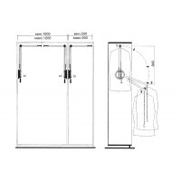 Лифт для навески одежды, левосторонний 102/A