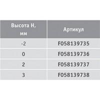 Крестовая ответная планка ECO TIOMOS /евровинт 6.3х13.5 (3 мм)