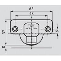 Петля Slide-on стандартная (90/110) накладная, для амортизатора ALFA