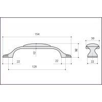 Ручка-скоба M34.17.173.02