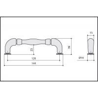 Ручка скоба HN-M-3805-128-AF