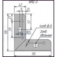Опора мебельная FIX019.135.CR