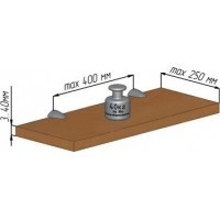 Менсолодержатель для деревянных и стеклянных полок  WRM.805.125.00R8