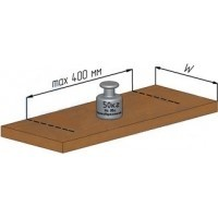 Менсолодержатель для деревянных и стеклянных полок WRM.805.125.00C1