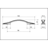 Ручка скоба M311.96.COF