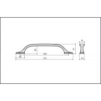 Ручка скоба HN-M-4148-128-BSN