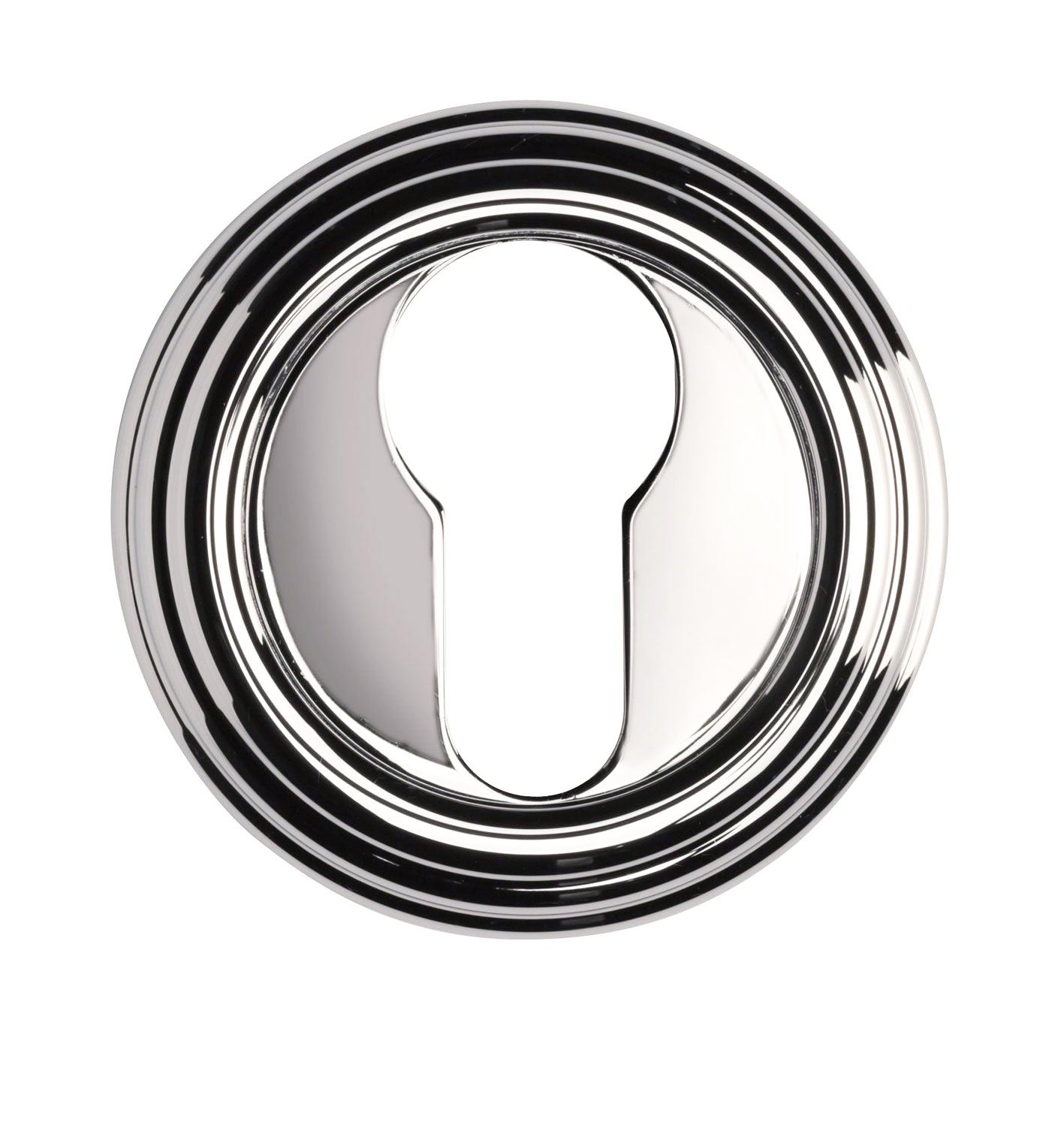Дополнительные розетки для замка с английским ключом CYL NB никель глянцевый 1053 R3BB