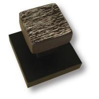 Вешалка керамическая на деревянной подложке цвета венге
