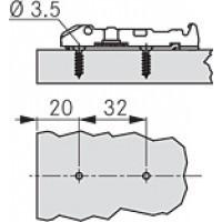 Линейная ответная планка TIOMOS /саморез (2 мм)