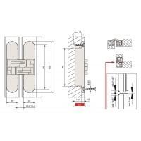 Петля скрытая для дверей и фасадов толщиной от 30мм