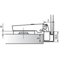 Петля Slide-on стандартная (90/105) для ал. проф., накладная