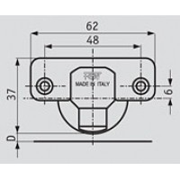 Петля для ДСП 16-30 Slide-on D35 (90/95) накладная