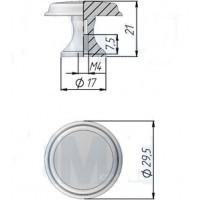 Ручка кнопка WPO.6000.030.00T5