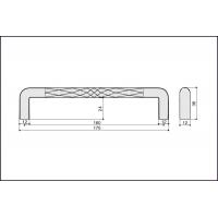 Ручка скоба S543160160-31