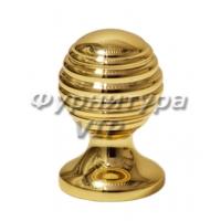 Ручка кнопка PAMUKKALE-09 30 мм латунь