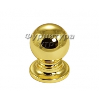 Ручка кнопка OLIMPOS-09 25 мм латунь