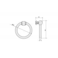 Ручка кольцо 3200 0050 GL-GL