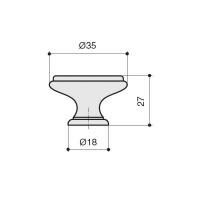 Ручка кнопка P88.Y01.G7.MT5G