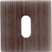 Дополнительные розетки для замка с межкомнатным ключом Накладка Cab квадратная Затемненное серебро (FIXA)